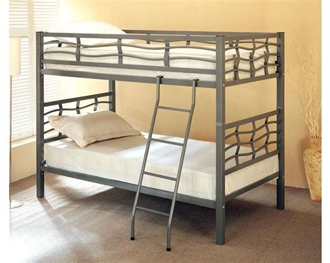 coaster furniture bunk bed coaster furniture twin over twin bunk bed in dark silver