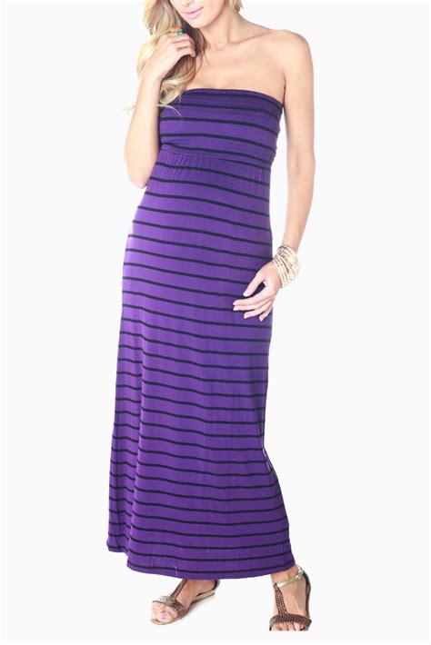 Sale Dress Import 6251 Purple purple black striped maternity maxi dress
