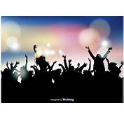 Party Crowd Background  Download Free Vector Art Stock