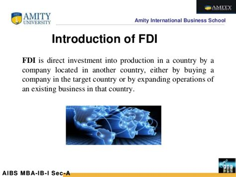 Foreign Direct Investment Mba Notes by Foreign Direct Investment Fdi