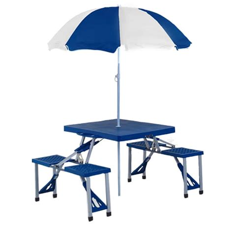 picnic table with umbrella portable folding picnic table homefurniture org