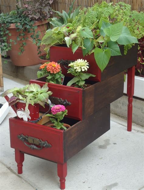 desk planter sold repurposed old desk drawers in quot barn quot red home
