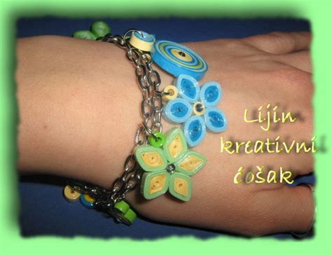 Handmade Paper Jewellery Ideas - quilled bracelet handmade paper quilling jewelry