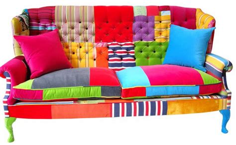 bright sofa bright furniture in the patchwork ideas for home garden
