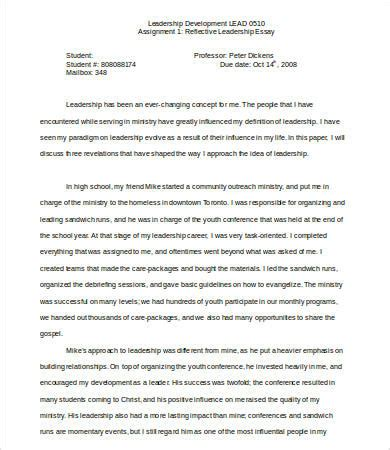 How To Start A Leadership Essay by Leadership Essay 7 Free Sles Exles Format Free Premium Templates