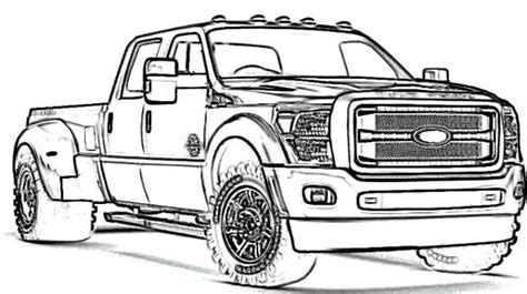 dodge diesel truck coloring page pictures to pin on