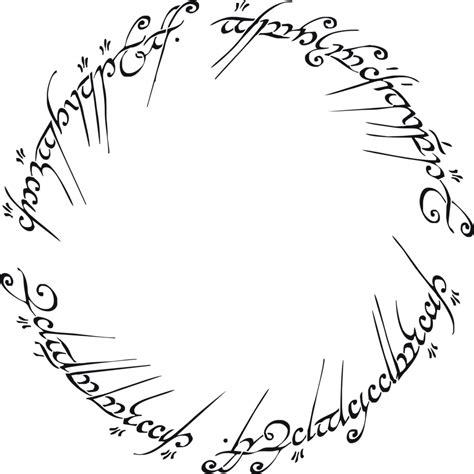 tattoo font lord of the rings lord of the rings the one ring decorative stencil multiple