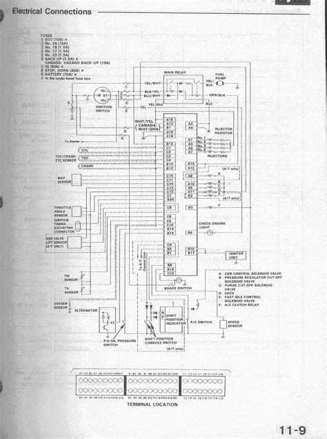 honda obd0 wiring diagram alternator get free image