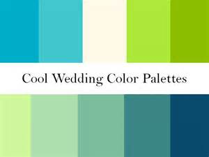 cool color scheme cool wedding color palettes of green blue and teal