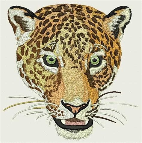 unique design definition jaguar leopard high definition portrait 1 embroidery