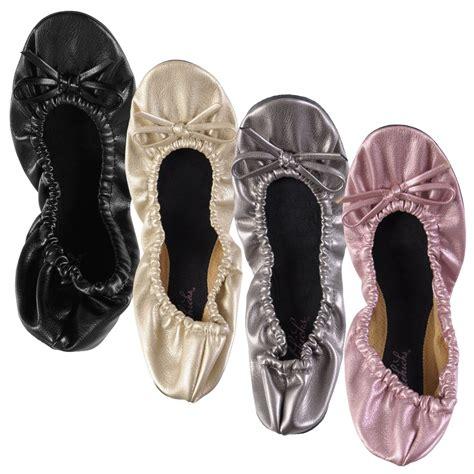 sidekicks foldable ballet flats shoes sidekicks s silver foldable portable travel ballet