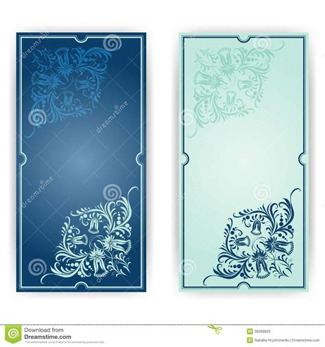 elegant template for greeting card invitation stock