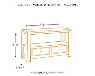 gavelston sofa console table gavelston sofa console table furniture homestore