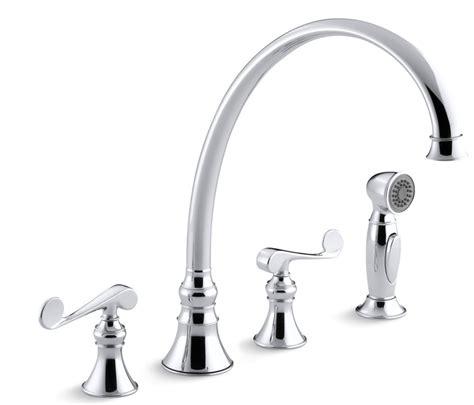 kohler revival kitchen faucet kohler revival 174 handle with sidespray kitchen faucet polished chrome k 16111 4 cp