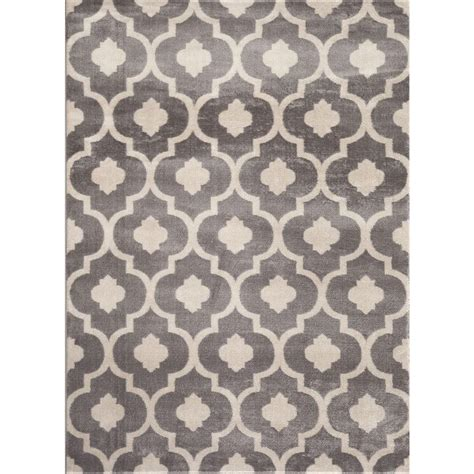 rug 3 ft world rug gallery moroccan trellis contemporary gray 3 ft 3 in x 5 ft indoor area rug 310