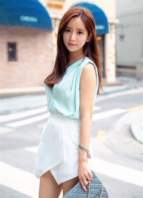 Hem Aura Jo chuu pointed hem wrap skort kstylick korean