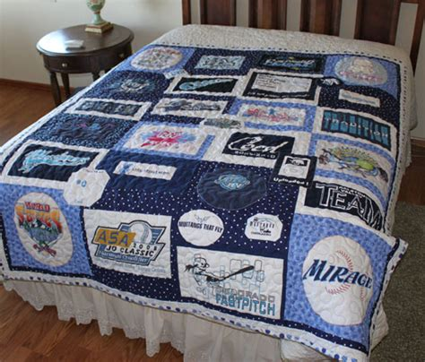 Softball Quilt by Custom Quilts T Shirt Qiilts