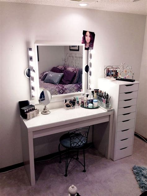 white vanity desk with lights diy makeup vanity brilliant setup for your room