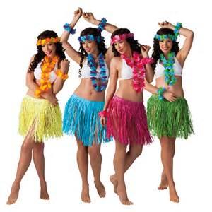 hawaii rock set 4er set gelb blau pink gr 252 n