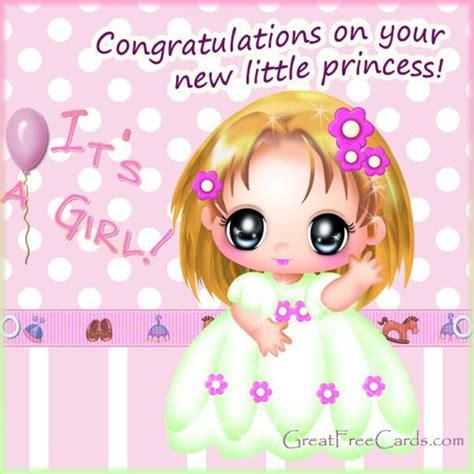 new born baby girl greeting card royalty free stock photos