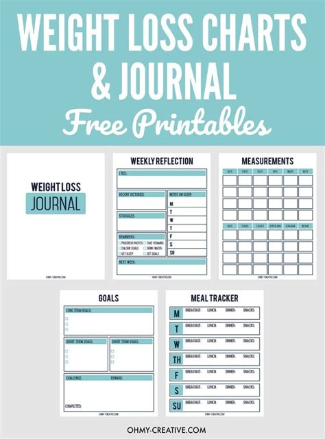 printable weight loss chart journal weight loss