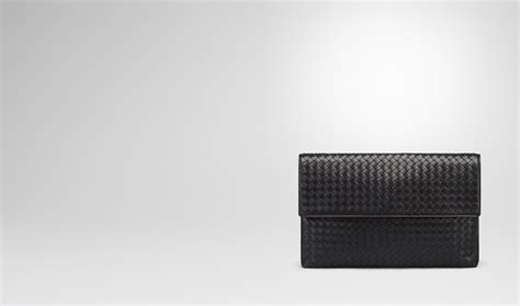 Pouch Bottega Veneta Document Intrecciato Vn Small Hitam So7462 bottega veneta 174 document in nero intrecciato vn