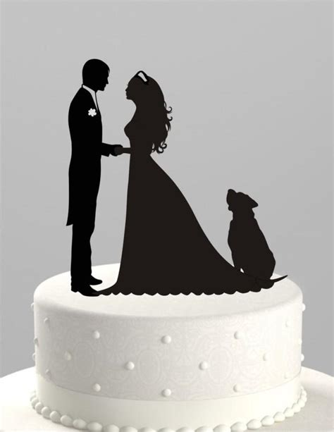 Topper Siluet Wedding Acrilik wedding cake topper silhouette groom and with acrylic cake topper ct38pd 2419570
