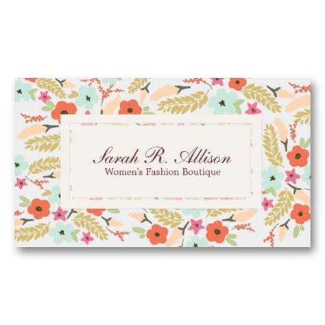 Chic Floral Orange And Thanksgiving Place Cards Template by 251 Best Images About Business Card Design On