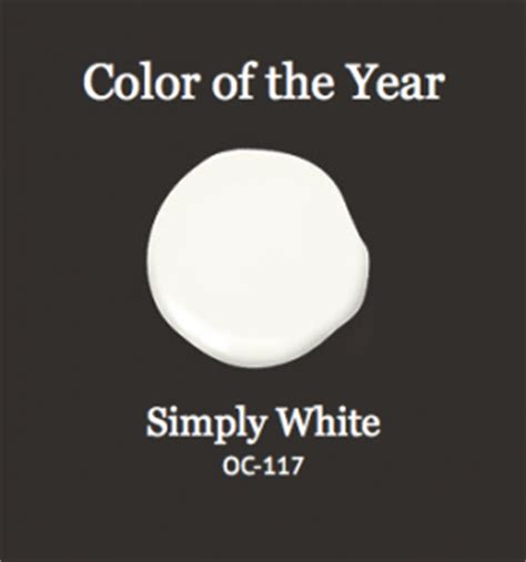 benjamin moore color of the year 2016 simply white 2016 color of the year