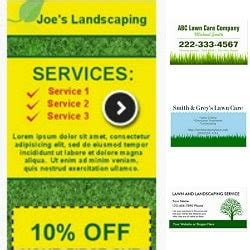 lawn service business card template landscaping business cards lawn care business