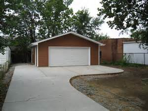 Garage Driveway Design detached garage amp driveway st louis by benhardt construction