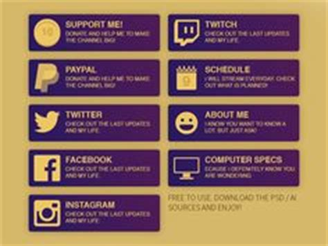 twitch business card templates free twitch panel theme packs free twitch