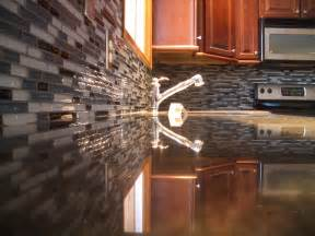 unique gift idea glass kitchen backsplash