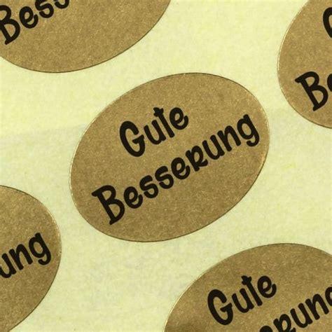 Etiketten Rolle Gold by Etiketten Aufkleber Gute Besserung Gold Haftpapier Auf Rolle