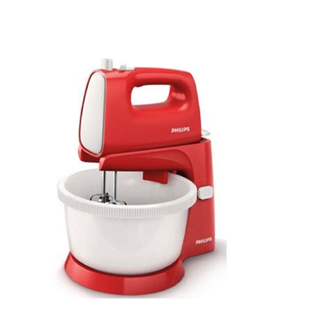 Mixer Philips Untuk Roti philips new stand mixer hr1559 putih merah elevenia