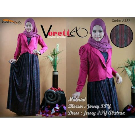 Dress Maxi Abella Dress Muslimah Gamis Abella Baju Muslimah Baju Murah b voretta fanta baju muslim gamis modern