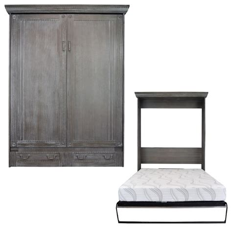 queen size murphy bed empire queen size murphy bed charcoal wash farmhouse