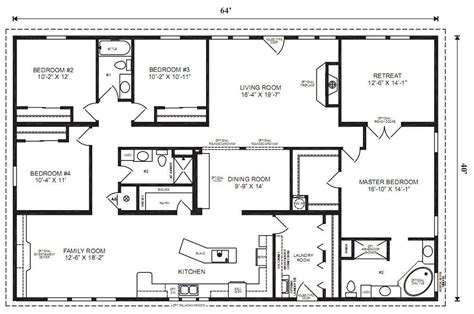 4 5 bedroom mobile home floor plans modular home plans 4 bedrooms mobile homes ideas