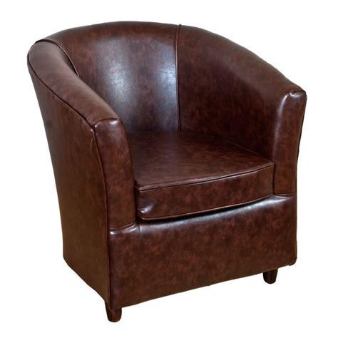 leather tub chair mahogany