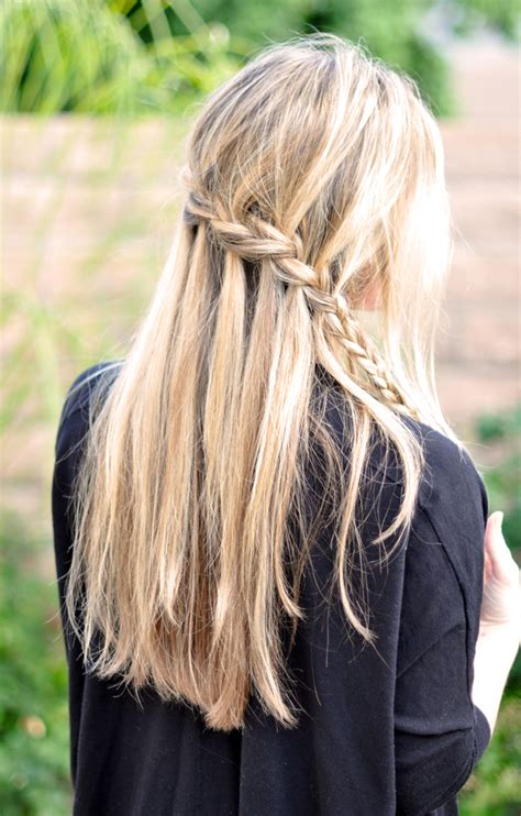 easy cascading braids hairstyles french braid w cascading hair tutorial diy waterfall