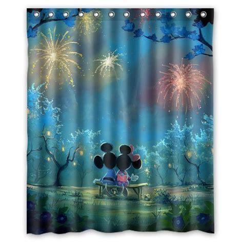 minnie and mickey shower curtain disney find truly magical mickey minnie shower curtain