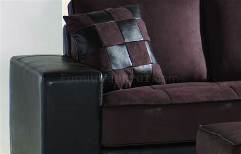 Microfiber Leather Sofa Brown Microfiber Modern Sectional Sofa W Bycast Leather Base