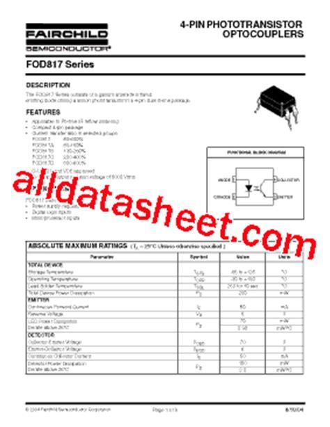 transistor a970 data sheet pdf fod817 datasheet pdf fairchild semiconductor