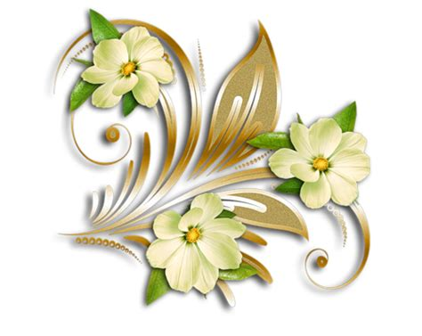 Aksesona Anting Flower Tulip Gold White Transparent yellow flowers gold ornament clipart png yellow flowers and ornament