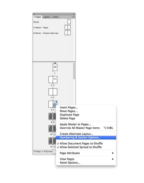 indesign creating page numbers indesign walkthrough how to create a table of contents