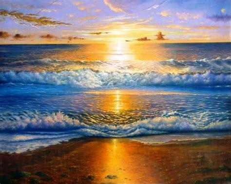 im 225 genes arte pinturas paisajes espectaculares en cuadros de paisajes en puestas de sol marinas pinceladas