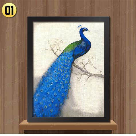 peacock bedroom aliexpress buy white black frame retro peacock