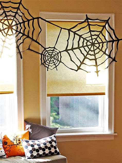 decorating with spider webs for trash bag spider webs easy crafts and