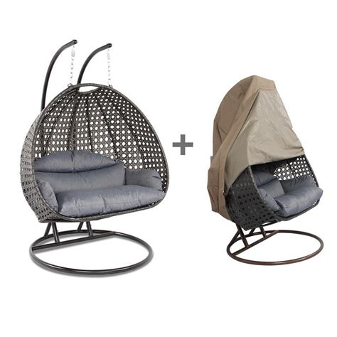 rattan swing chair with stand wicker egg chair