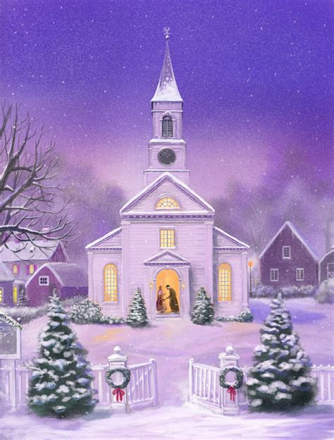 american church christmas scene by dashinvaine on deviantart